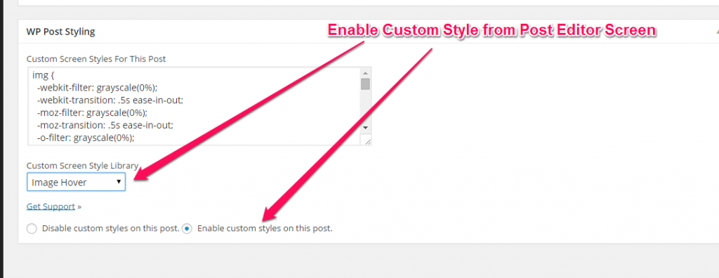 Add Custom Style to a Post
