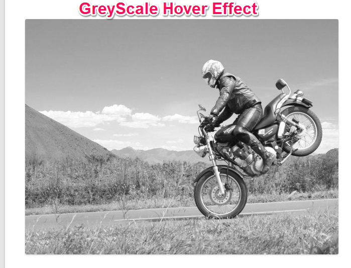 Bike Image with GreyScale Effect