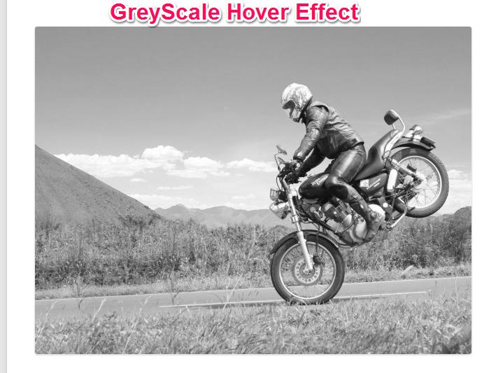 Bike Image with GreyScale Effect