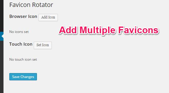 Favicon Rotator Settings Page