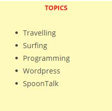 Text Widget List of Links