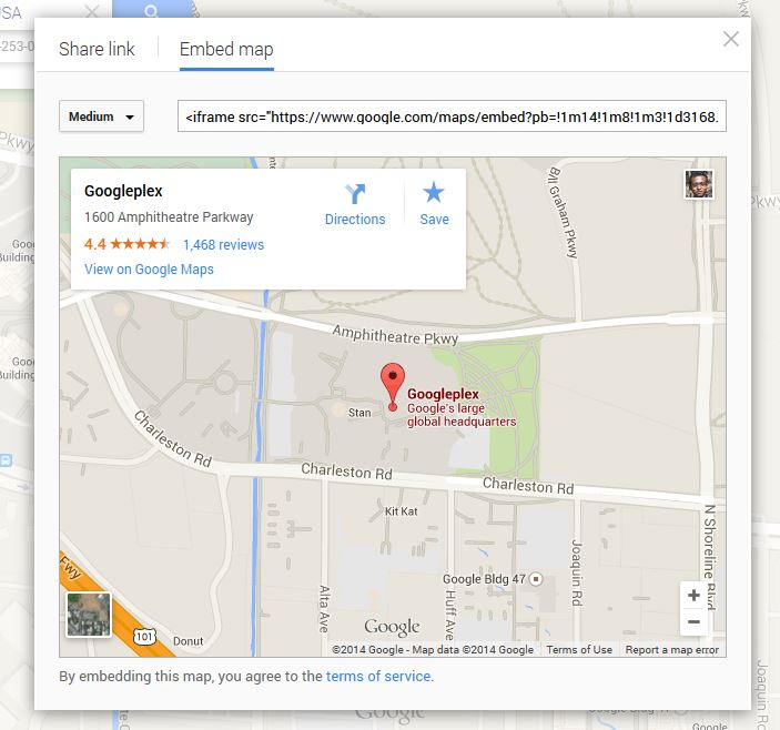 how to add radius to google map