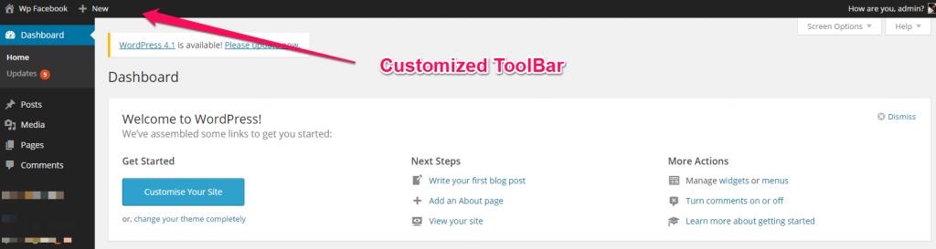 ToolBar Remove Links
