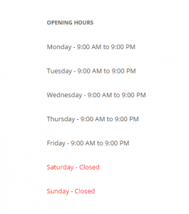 Business Opening Hours WordPress Theme