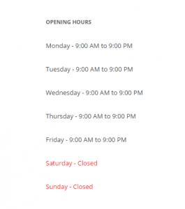Business Opening Hours WordPress Theme