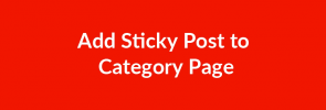 Add Sticky Post to Category Page - Featured Image