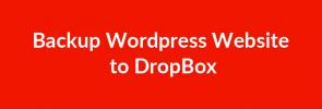 Backup Wordpress Website to DropBox_image