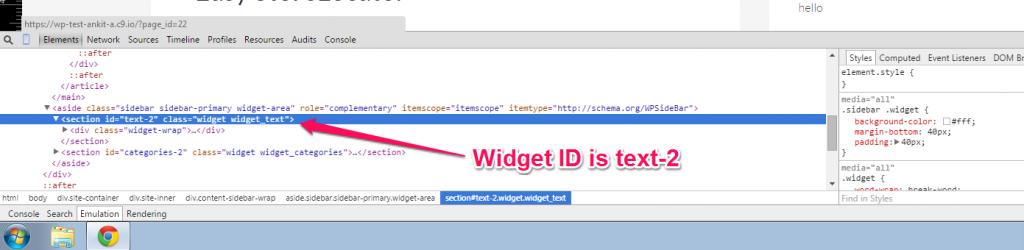 Get Widget ID FireBug