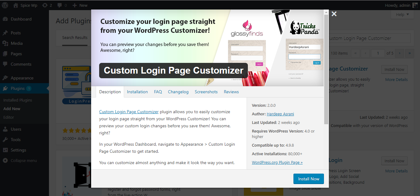 Beginners Guide to Styling the WordPress Login Page using Custom