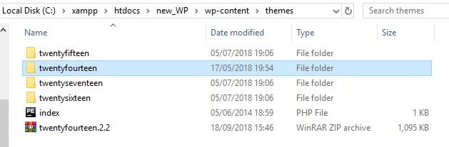 download wordpress theme localhost